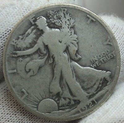 1921 S Walking Liberty Half Dollar Key Date Silver Coin