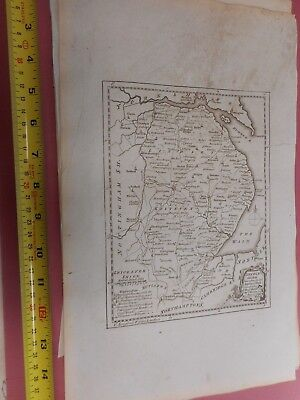 100% Original Lincolnshire Map By T Kitchin  C1786 Vgc Low Start