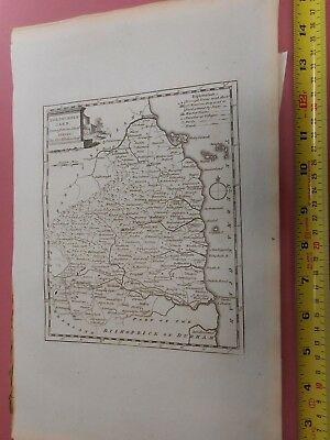100% Original Northumberland Map By T Kitchin  C1786 Vgc Low Start