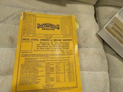Official Railway Equipment Register  Over 30 Volumes Years 1951 to 1986