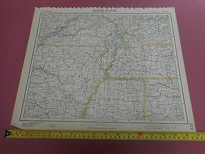 100% Original Arkanasa Tennesse United States Map By Letts C1892 Vgc Sheet 6