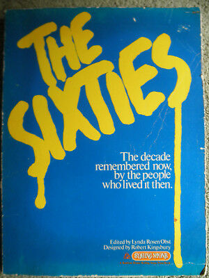 """GREAT OLD BOOK BY ROLLING STONE MAGAZINE """"THE 60's""""  HUGE"""