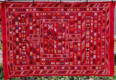 Large Heavy Loomed Textile Tapestry Peru Llamas