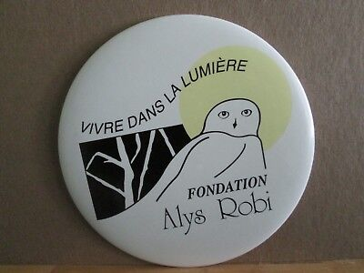1992 French Canadian Singer Alys Robi Signed Badge And Cd