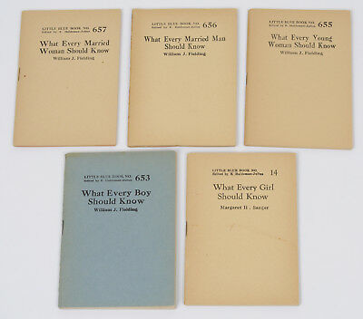 """Little Blue Book Lot including """"What Every Girl Should Know"""" & Boy Man Woman"""