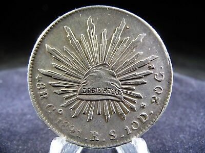 1891 Go RS Mexico 8 Reales silver coin
