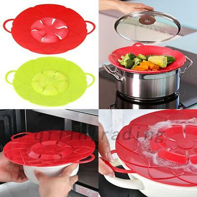 Anti-overflow Handy-Lid Silicone Spill Stopper Pot Cover Kitchen Cooking Gadgets