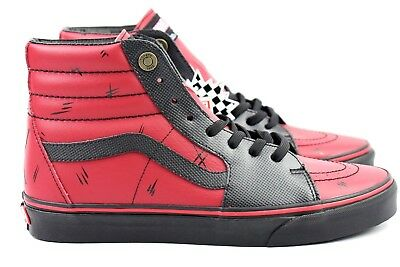 0cd17d87f6c5 Vans Sk8 Hi Marvel Deadpool Black Red Leather Multi Size Skate Shoes Limited