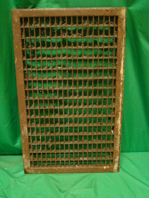Huge Vintage 1920S Iron Heating Return Grate Rectangular Design 26 X 16