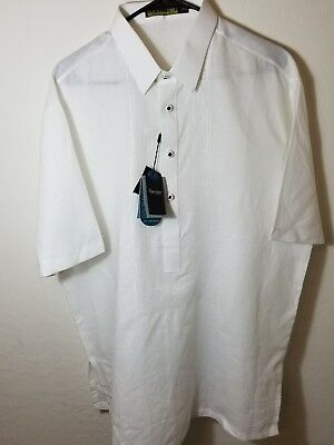 New Authentic Onesimus Mens Barong Tagalog (White) Men's Size Xl