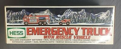 Hess Emergency Truck with Rescue Vehicle 2005- FAST FREE SHIPPING