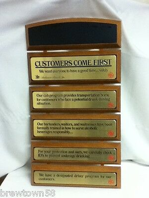 Budweiser beer sign eagle award for retailer achievement personalized tacker DI4