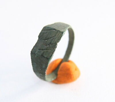 Ancient Old Bronze Runic Ornament Ring (JNR01)