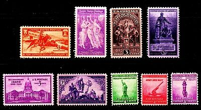 1940 - 1949 Commemorative Year sets Decade set (93 Stamps) - MNH