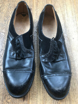 1950's French Deadstock Cap toe Correspondent Shoes.