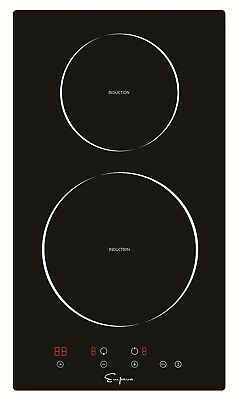 """Cooktops Empava 12"""" Electric Induction Smooth Surface Black Tempered Glass"""