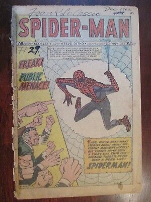 Amazing Spider Man 1  Key Silver Age Comic  No Cover