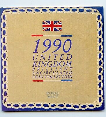 1990 United Kingdom Royal Mint Brilliant Uncirculated coin collection