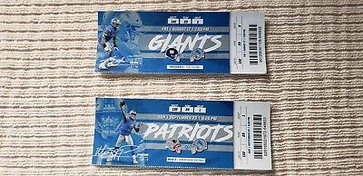 2018 Detroit Lions Vs New England Patriots And New York Giants Ticket Stubs