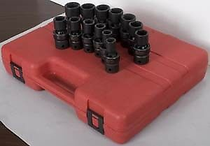 "Sunex Tools 2665 13 Piece 1/2"" Drive Metric Universal Impact Socket Set"