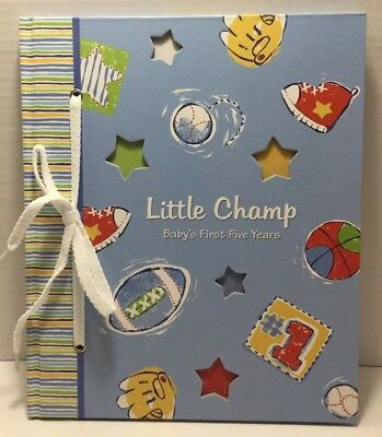 Baby Boy Memory Book Hardcover Record Babys First Five Years With Box New