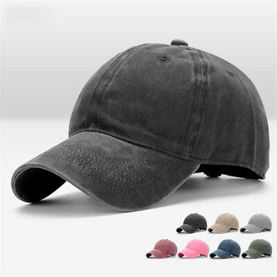 Men Plain Washed Cap Style Cotton Adjustable Baseball Cap Blank Solid Hat Cheap