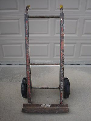 Vintage Factory Industrial Two Wheel Heavy Duty Steel Hand Truck For Heavy Loads