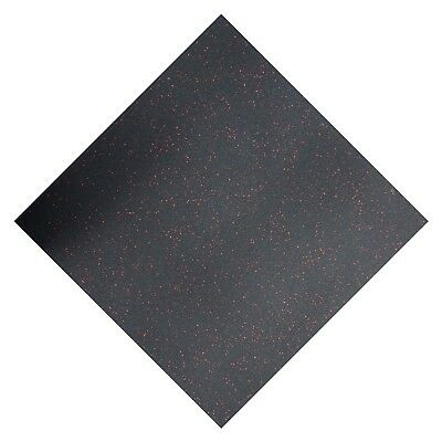 Premium Rubber Floor Tiles Red Fleck // 1m x 1m 15 mm Thick Home Gym Commercial