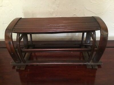 """Antique Japanese Meiji period hand made SUPERB wood pillow or stand 11"""""""