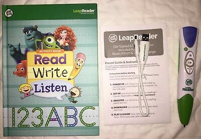 Leapfrog LeapReader Reading Writing System Green Pen 21301 w/ USB Cord...Tested