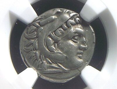 Silver Drachm of Alexander III the Great, 336-323 BC NGC Ch VF  3007