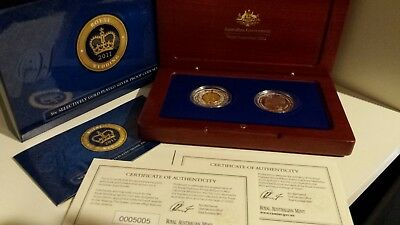 2011 Selectively Gold Plated Silver Proof Coin Set of 2 x 50c