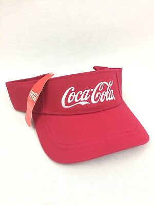 NEW Coca Cola Visor Hat Made 100% From Recycled Bottles Coke Coca-Cola #2944-49