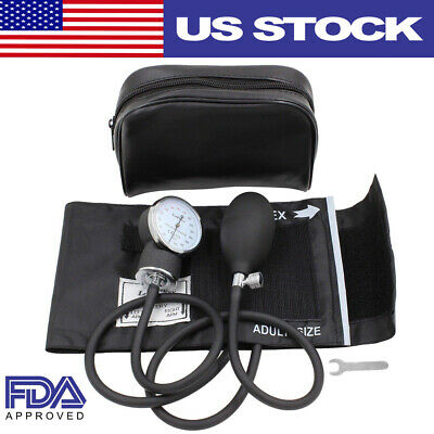 Manual Blood Pressure Monitor Upper Arm BP Cuff Aneroid Sphygmomanometer Machine