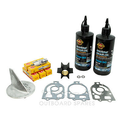 Mercury Annual Service Kit Anode Oil for 90-150hp Blue, Brown, Red Band Outboard