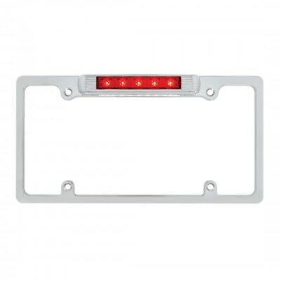 License Plate frame Chrome Steel with LED,s PERFECT Solution For 3RD Brake Light