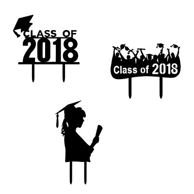 Class of 2018 Graduation Cake Topper Party Decoration High School College Sign