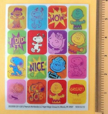 Eureka Paper Magic Snoopy Sticker Sheet~Vinyl Image Changing~Charlie Brown~Lucy