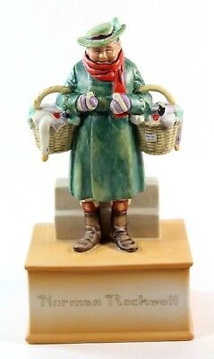 Norman Rockwell Baskets of Joy Schmid Collectible Music Box Joy to the World