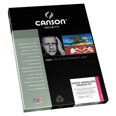 Canson Infinity Photo HighGloss Premium RC 315gsm A4 - 10 Sheets