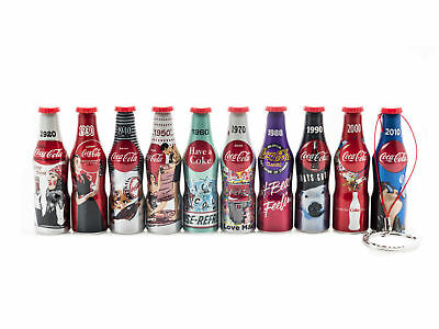 Coca Cola 100 Years from 10 Aluminum Mini Bottle Keychain Limited