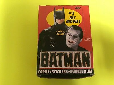 1989 TOPPS BATMAN Series 1 Movie Card Wax Box 36 packs w poster