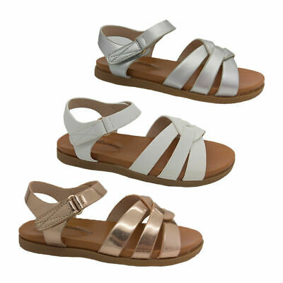 Girls Sandals Bellissimo Pixie Cross Strap Flat Sandal 3 colours Size 8-5 New