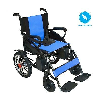 Lightweight Durable Motorized Electric Wheelchair Power Wheelchair Foldable