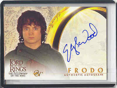 Lotr Fotr Fellowship Of The Ring Auto Frodo / Elijah Holz