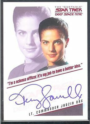 Quotable Star Trek DS9 Auto Terry Farrell Jadzia Dax