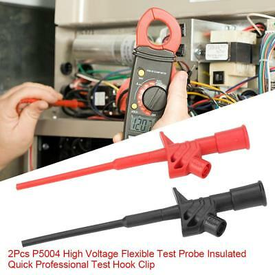 2Pcs P5004 High Voltage Test Probe Insulated Quick Test Hook Clip ml