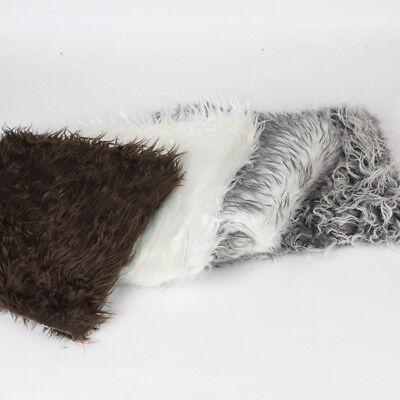 Faux Fur Blanket Basket Infant Newborn Baby  for Photography Photo Props D4S