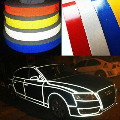 33CD Car Auto Truck Reflective Strip Night Safety Warning Tape Sticker 1CMx5M