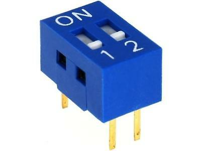 2x DSR-02 Switch DIP-SWITCH Poles number2 ON-OFF 0.05A/12VDC -20÷70°C